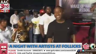 LIVE: Omoyele Sowore live at Follicks.  A night with Artists #TakeItBack #AACParty #Nogoingback