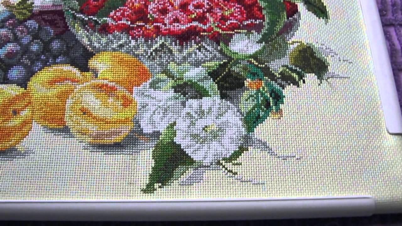 Вышивка крестом абрикосы