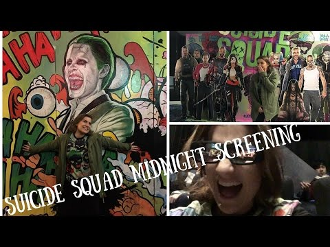 SUICIDE SQUAD midnight screening VLOG *SPOILERS*