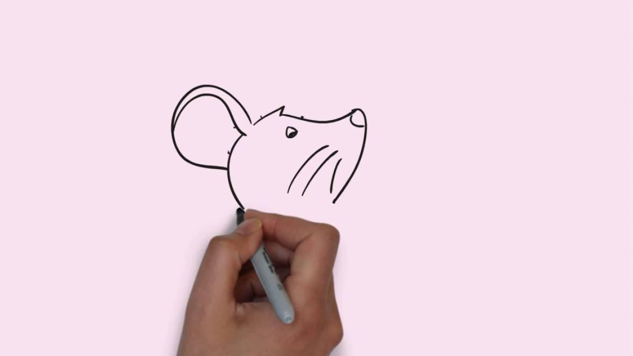 How To Draw a Mouse Cara Menggambar Tikus