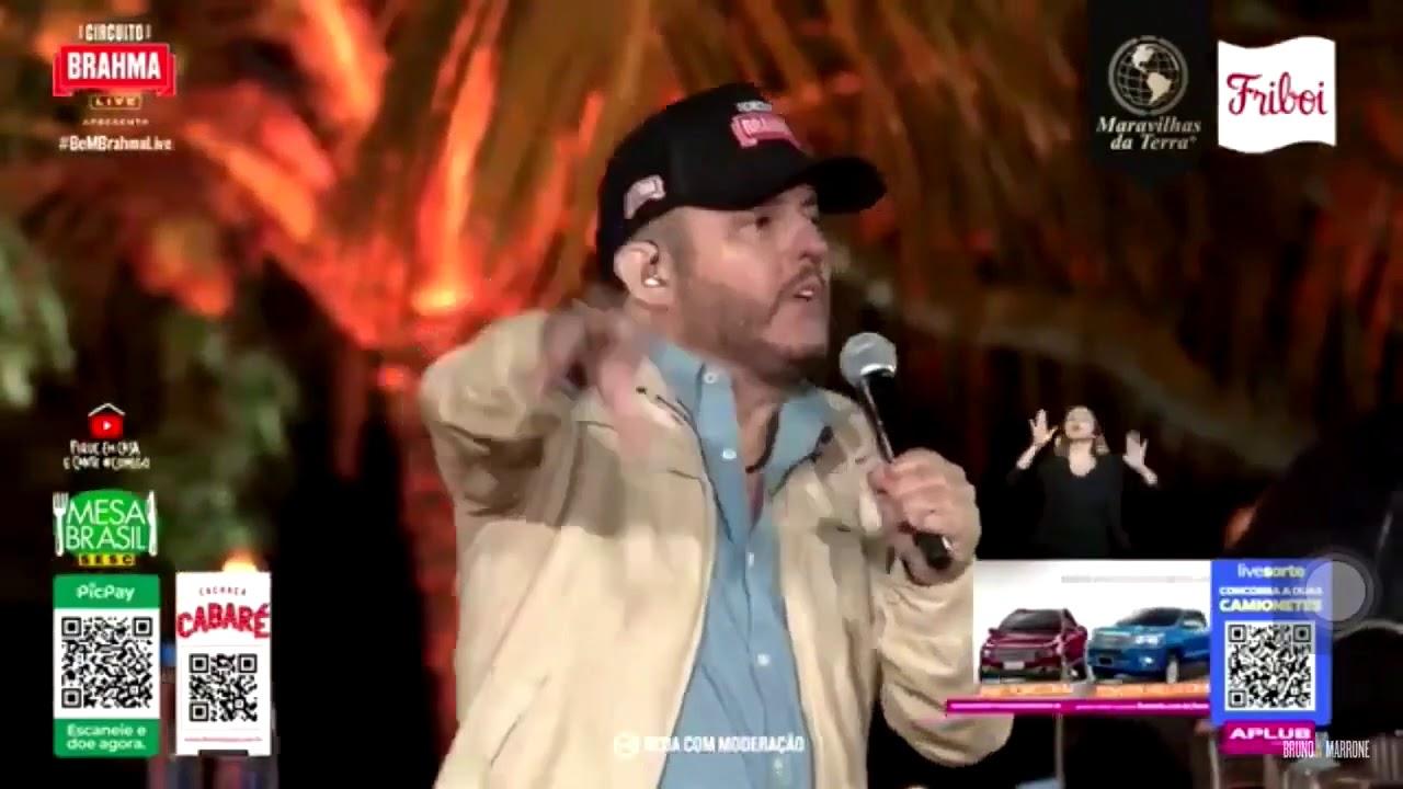 Durante live, cantores Bruno e Marrone elogiam presidente Bolsonaro