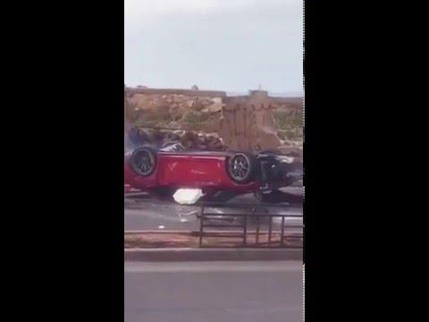 Porsche lebanon Accident GT3 PORSCHE in beirut waterfront- #lebanesecars