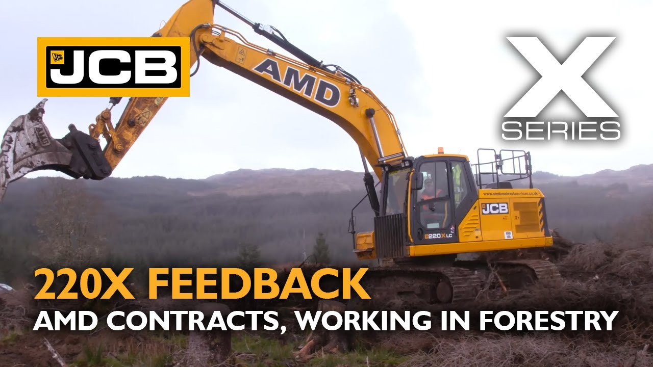JCB X Series 220X Excavator Operator Testimonial - AMD Contracts, Working in Forestry