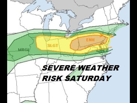 SEVERE WEATHER RISK INCREASED FOR SATURDAY ACROSS NORTHERN MID ATLANTIC STATES