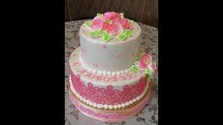 Красивый Торт на День Рождение .