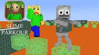 Monster School : Baldi's Slime Block Parkour Challenge - Minecraft Animation
