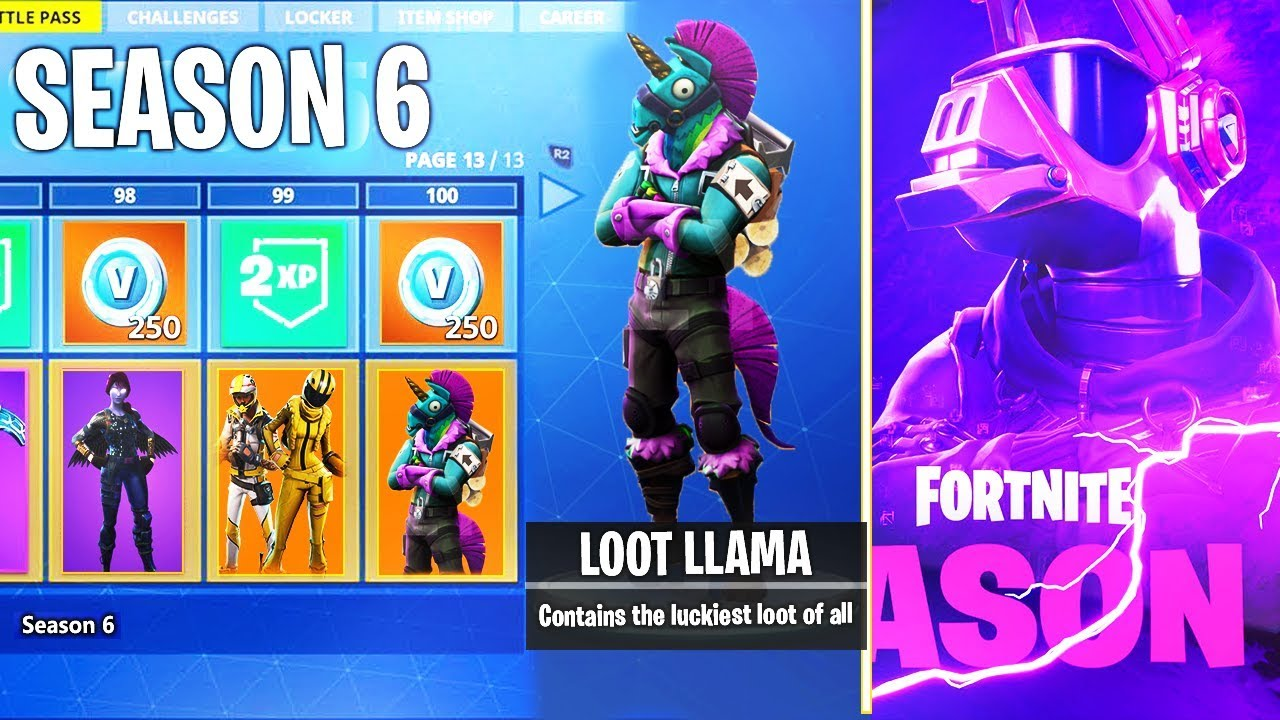 All Season 6 Battle Pass Skins Unlocks Leaked Fortnite Battle