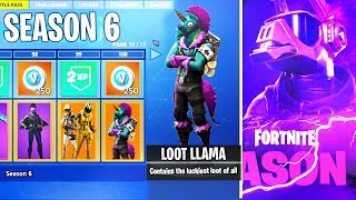 *ALL* SEASON 6 BATTLE PASS SKINS + UNLOCKS LEAKED! - Fortnite Battle Royale
