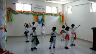 I LOVE MY INDIA PATRIOTIC PERFORMANCE BY GCIS KG KIDS.