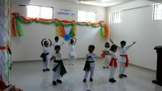 I LOVE MY INDIA PATRIOTIC PERFORMANCE BY GCIS KG KIDS.