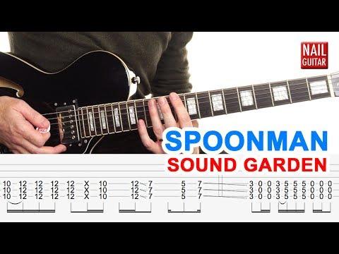 Spoonman | Sound Garden | Guitar Lesson - Drop D Electric Song Tutorial