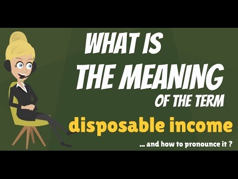 What is DISPOSABLE INCOME? What does DISPOSABLE INCOME mean? DISPOSABLE INCOME meaning