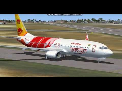 air india express takeoff and landing from VOTV to VOCI full video FSX