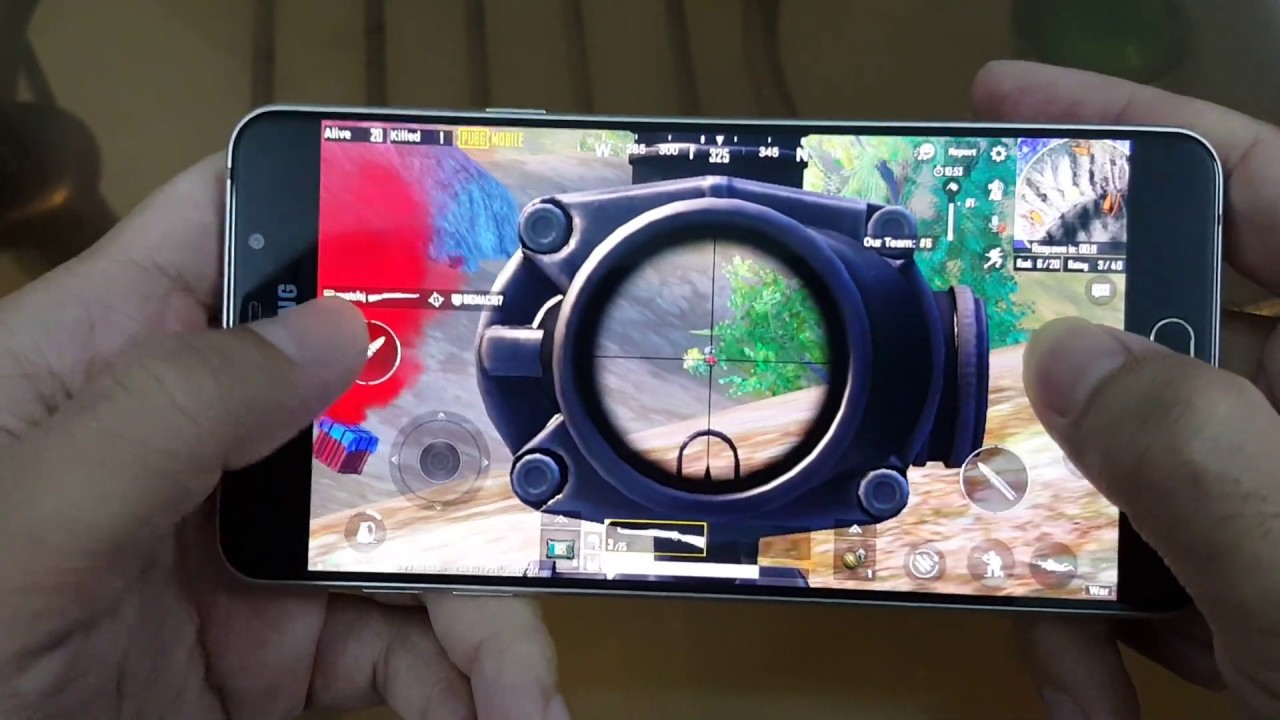 Test Game Pubg Mobile On Samsung Galaxy A5 2016 Youtube