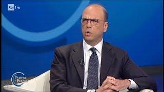 Angelino Alfano: non mi ricandido - (1^ parte) - Porta a porta 06/12/2017