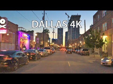 Dallas 4K - Night Drive - Driving Downtown - USA