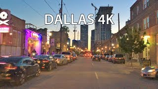 Dallas 4k - Night Drive - Usa