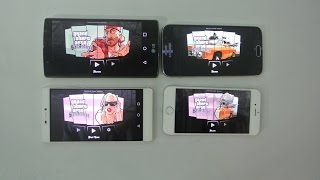 Huawei P8 vs Galaxy S6 vs iPhone 6 vs LG G4 - GTA San Andreas Gameplay Comparison HD