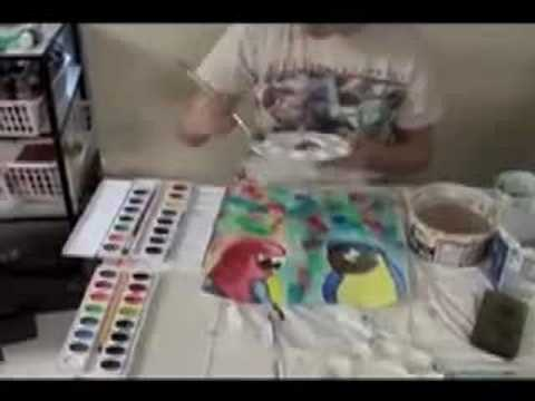 Painting Parrots- The Parrot Picture-Part 2