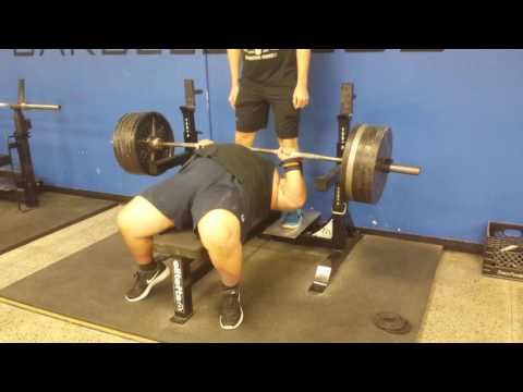 Bench Work 54 Year Old Kole Carter Raw Bench Press 500 Pounds For 5 Reps