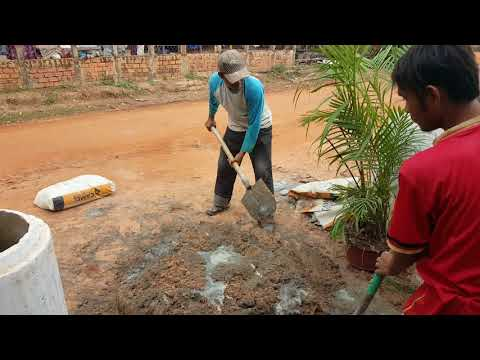 How to mix cement and concrete in Cambodia