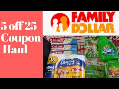 Family Dollar 5 off 25 digital coupon haul