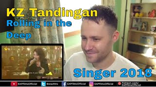 KZ Tandingan - Rolling in the Deep (China Singer 2018) | REACTION