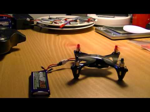 MongoTV_417 - Part 4 - Mongo Drones Testcenter - Idle Test Hubsan X4 107L Turningpro 1S  950 mAh
