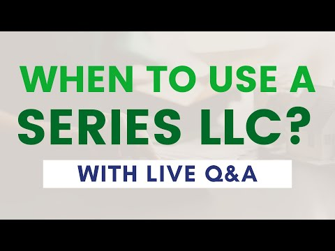 When To Use A Series LLC | Mark J. Kohler FULL Live Stream
