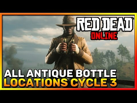 Red Dead Online Frontier Pursuits - All Antique Bottle Locations Cycle 3 - Madam Nazar - RDR2 Online