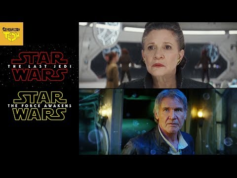 Last Jedi Trailer VS Force Awakens Trailer Comparison