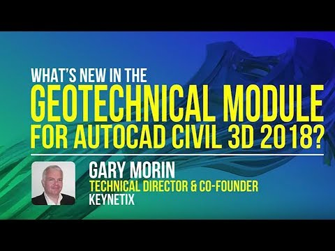 What's New in the Geotechnical Module for AutoCAD Civil 3D 2