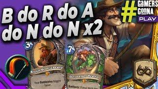 B do R do A do N do N x2 😎 - Highlander Secret Hunter - Hearthstone Wild #GamersGonnaPlay