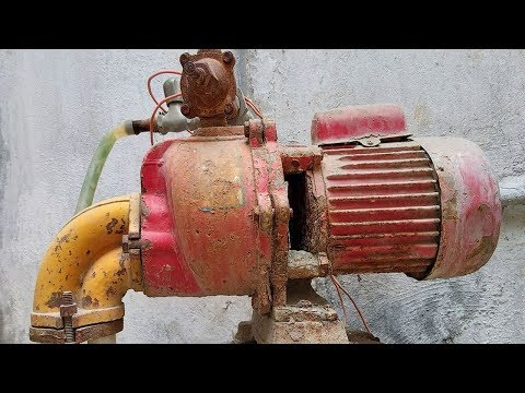 Restoration of Old and Rusted Electric Water Pump 220 Volts