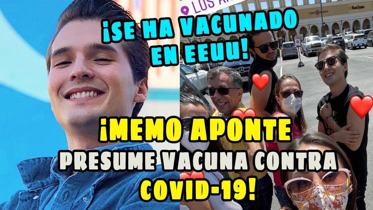 El youtuber Memo Aponte presume que HA RECIBIDO vacuna contra covid.