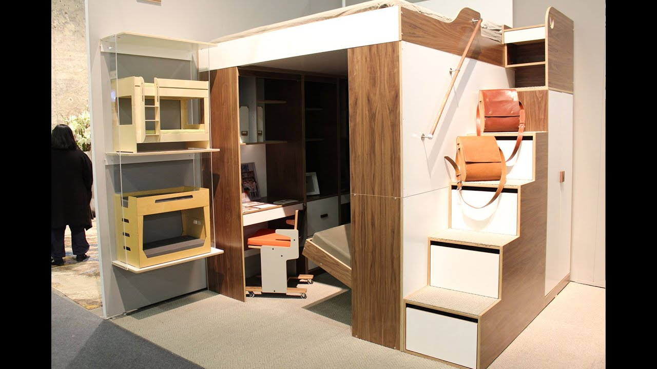 Urbano loft bed small living solution by casa collection youtube - George small spaces collection ...