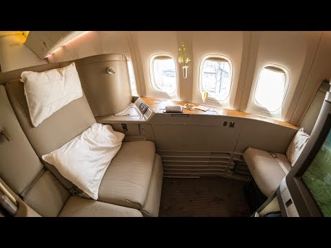 New Cathay Pacific First Class - Boeing 777-300ER - Hong Kong to London (CX253)