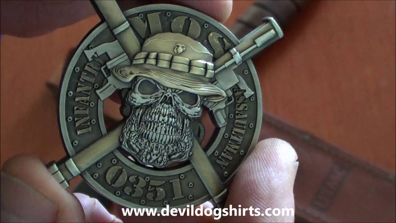 USMC MOS0351 Infantry Assaultman Coin - YouTube