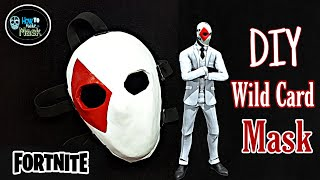 DIY- How to Make a Wild Card Mask From Fortnite