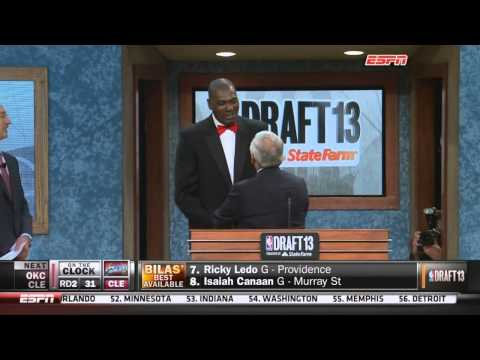 David Stern announces his final NBA draft pick