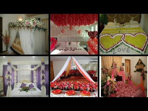 Most Beautiful First Night Wedding Bedrooms Decoration With Flowers