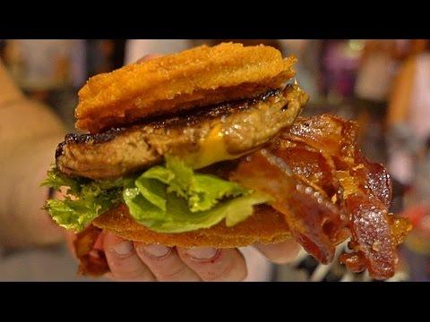 Churro Bacon Cheeseburger Taste Test