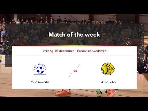 Livestream zaalvoetbal ZVV Amicitia - ASV Lebo 15 december 2017