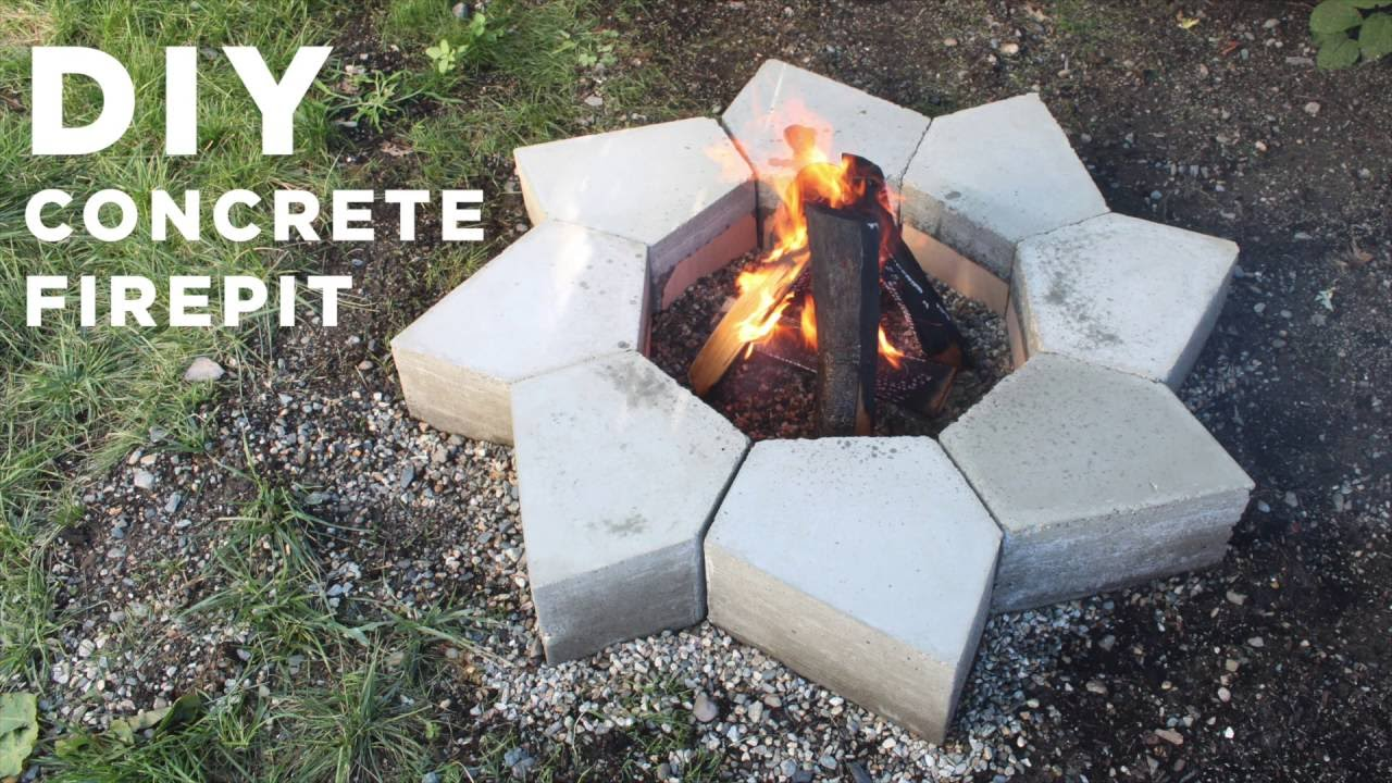 diy concrete firepit made with a cnc machine