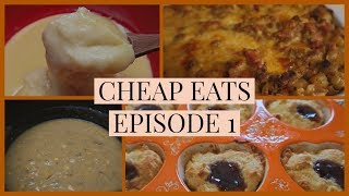 FULL DAY OF MEALS | 💲💲CHEAP EATS💲💲 |  VINTAGE RECIPES