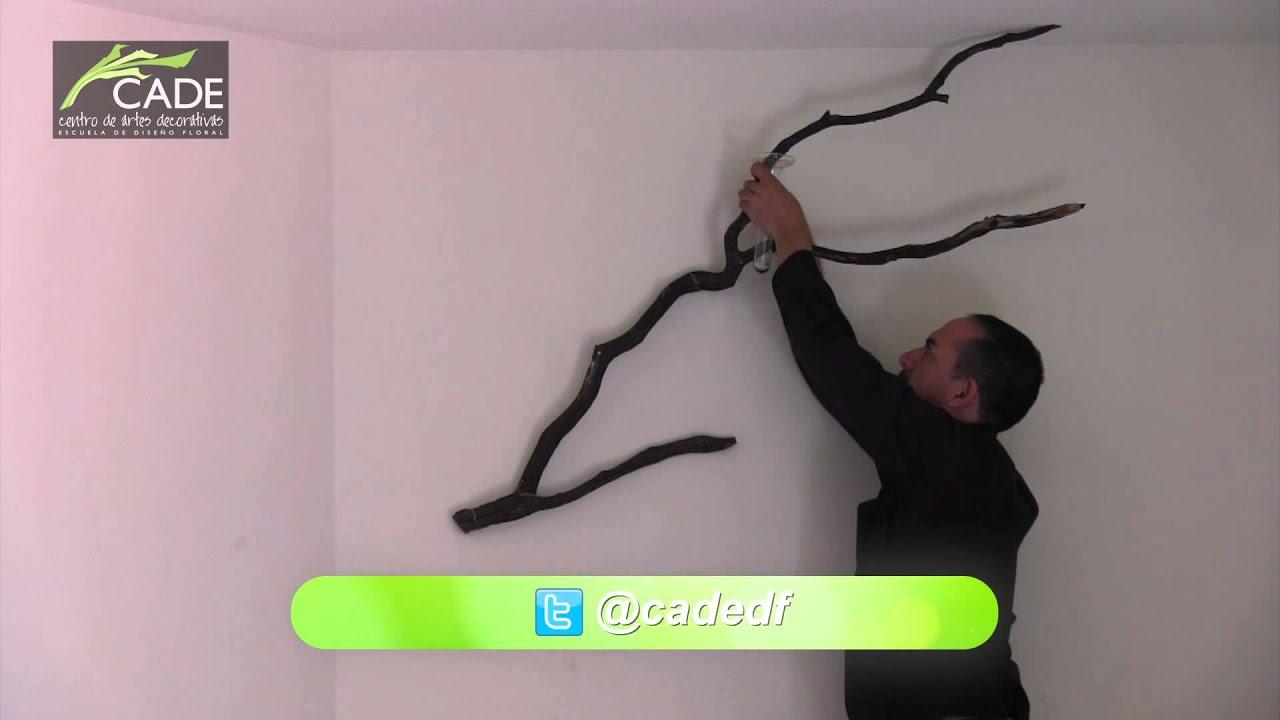 Como hacer una lampara con una rama escuela de dise o - Como aislar una pared ...