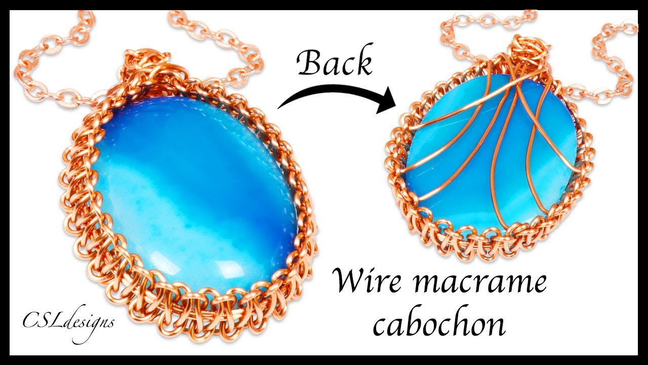 How to wire macrame cabochon - YouTube