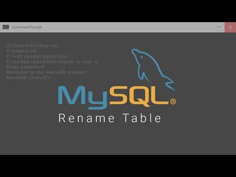 Rename Table In Mysql Database