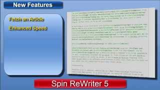 Spin ReWriter 5 - Spin ReWriter 5 Review of New Features