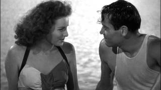 "Maureen O'Hara in ""Immortal Sergeant"" (1943) - scene at the lake"